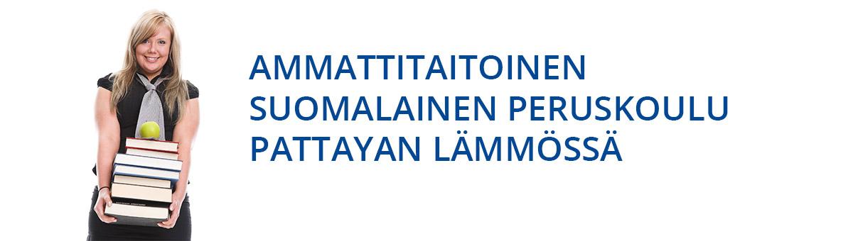 Ammattitaitoinen suomalainen peruskoulu pattayan lämmössä